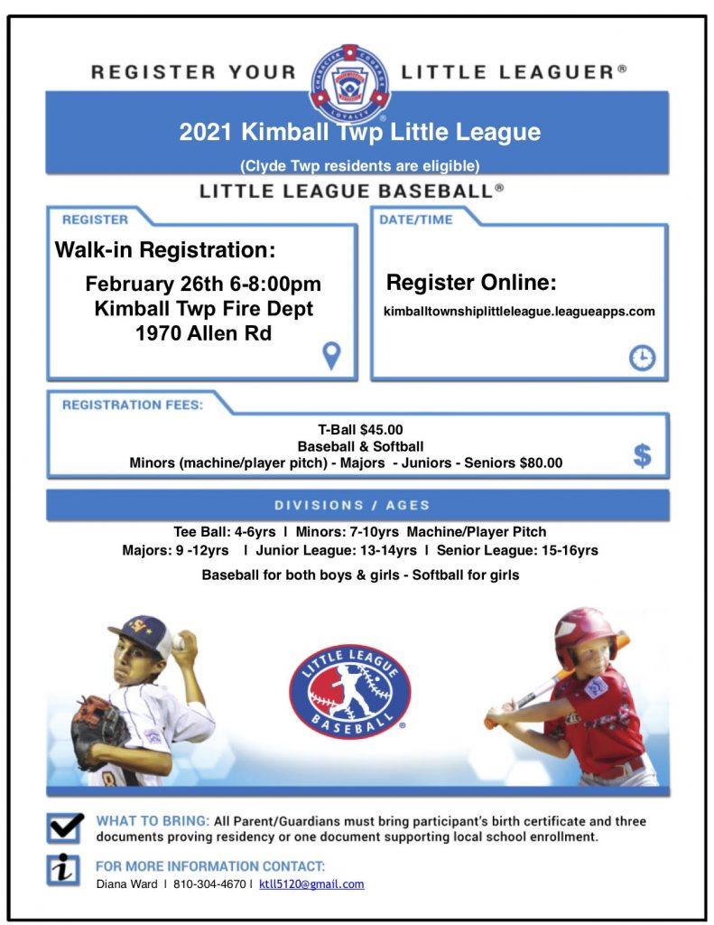 Little League Registration
